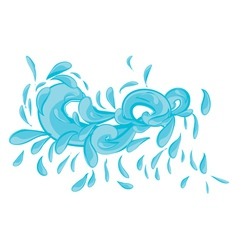 Blue water splashes vector image vector image