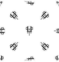 Boer drill pattern seamless black vector
