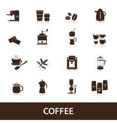 Coffee icons set eps10 vector