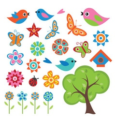 Colorful Spring Set vector image vector image