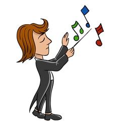 Conductor bandmaster vector