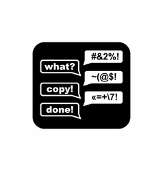 Consultation online icon simple style vector