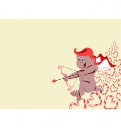 cupid with arch and arrow vector image