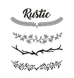 decorative rustic vintage collar vector image