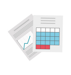 Documents pages icon vector