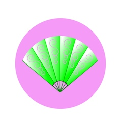 fan in circle vector image vector image