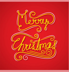 merry christmas greeting or poster design vector image vector image
