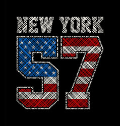 New york number 57 vector