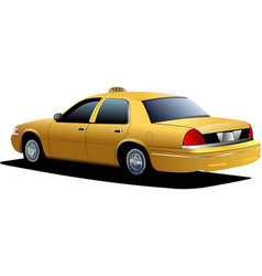 new york yellow taxi cab vector image vector image