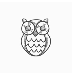 Owl sketch icon vector image