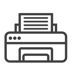 Printer line icon fax and office vector