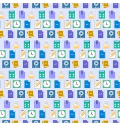 Seamless flat web icons and simbols pattern vector image