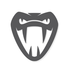 Snake logo template viper head symbol or vector