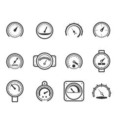 Speedometers manometers tachometers and vector image