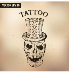 steampun tattoo skull vector image