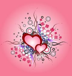 valentine day vintage design element vector image