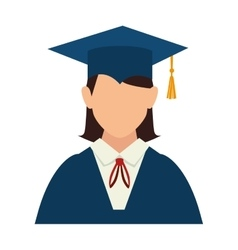 Girl graduate gown vector