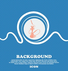Hookah sign blue and white abstract background vector