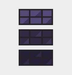 type of house windows element isolated flat style vector image