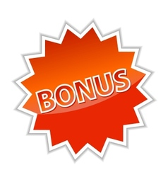 Web button bonus vector