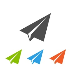 Paper airplane flat icons vector