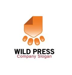 Wild press design vector