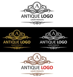 Antique logo perview vector