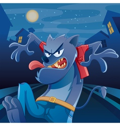 Werewolf cartoon vector