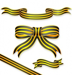 Stripe ribbons vector