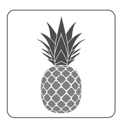 Pineapple with leaf icon gray vector