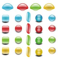 Colorful Web Button Set vector image