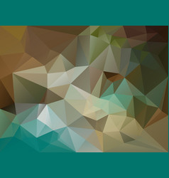abstract irregular polygon background brown blue vector image vector image