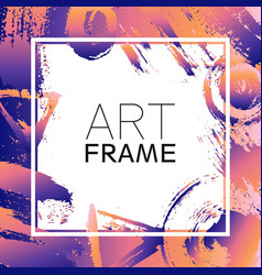 Art frame square gradient pink violet color vector