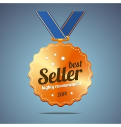 Best seller award medal vector