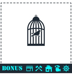 Birdcage icon flat vector