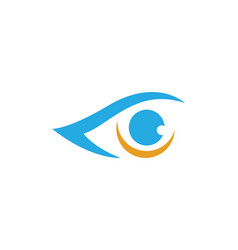 branding identity corporate eye care logo design vector image vector image