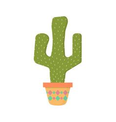 cactus in pot vector image