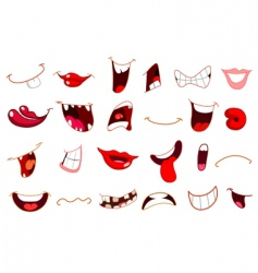 cartoon mouths vector image vector image