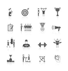 Coaching sport icon vector