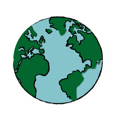 Drawing global world earth map atlas vector