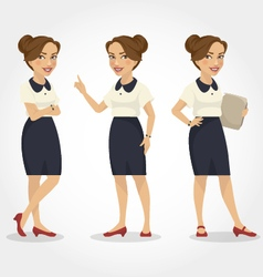 female character hispanic business woman vector image vector image