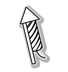 Fireworks rocket celebration vector image vector image