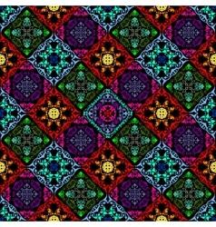 Fluorescent mushroom seamless tapestry vector