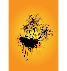 funky abstract vector image vector image