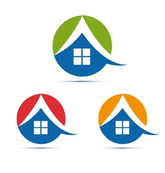 house home logo icon vector image
