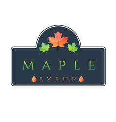 Label maple syrup vector