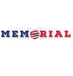 Memorial day emblem vector