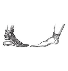 Sandal vintage engraving vector