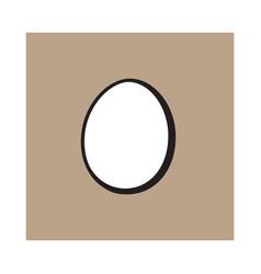 single whole hard boiled peeled unshelled vector image