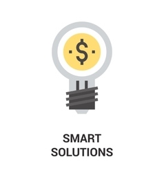 smart solution icon concept vector image vector image